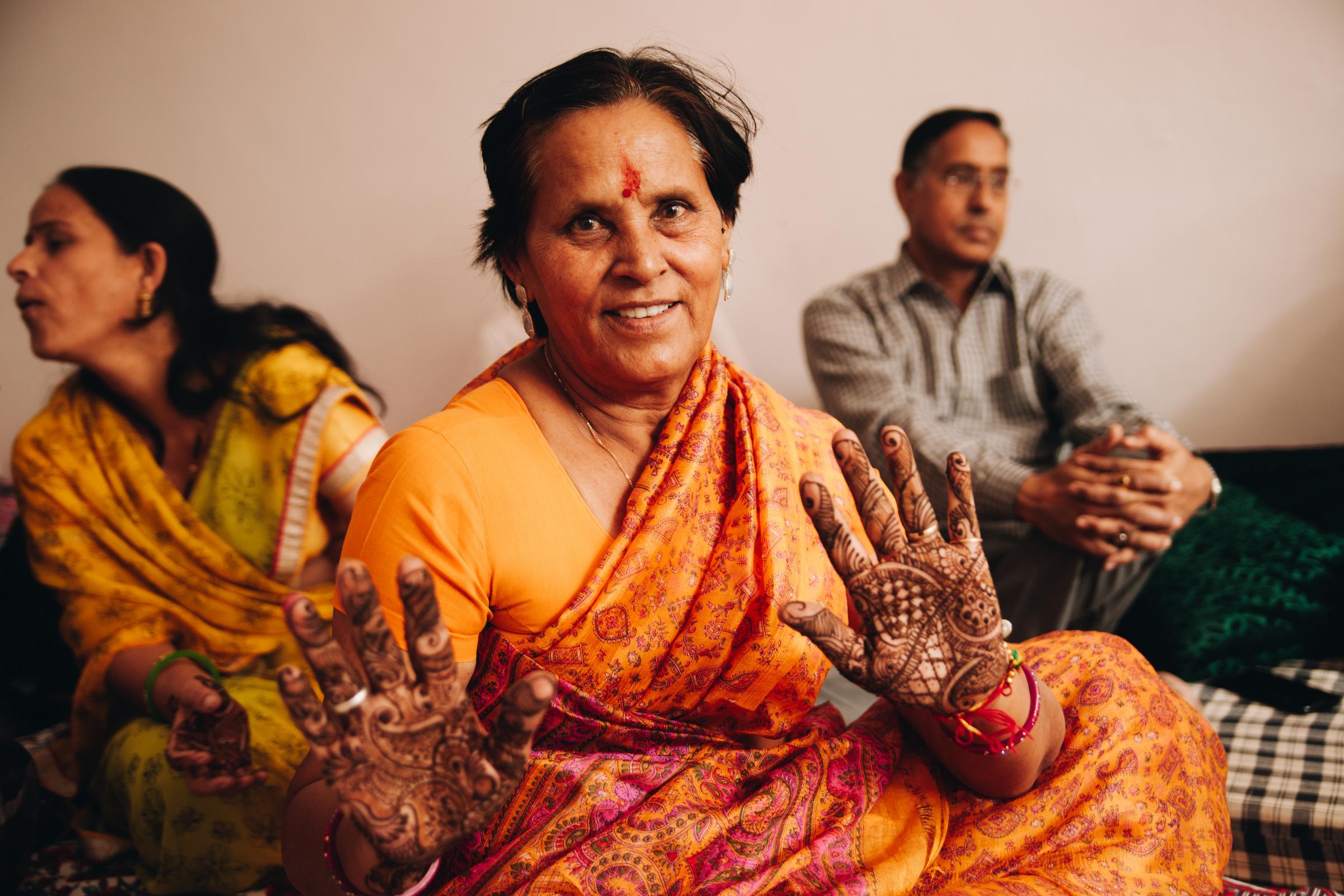 slub w indiach henna