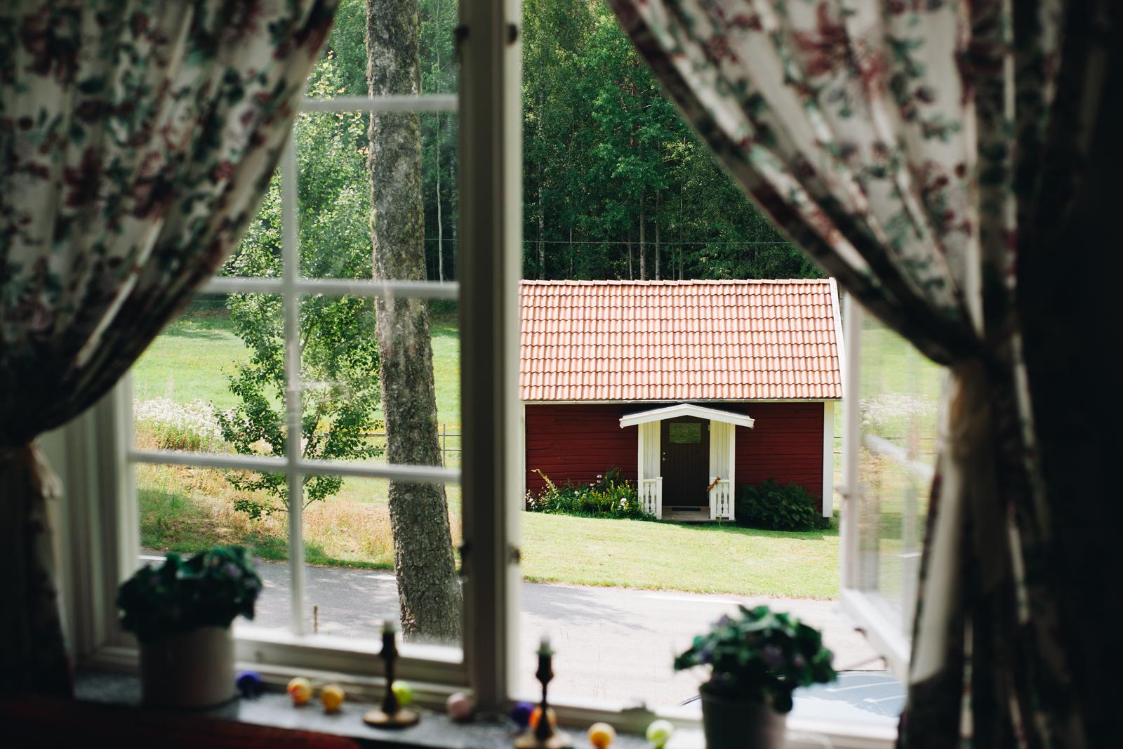 szwecja kultura czerwone domki