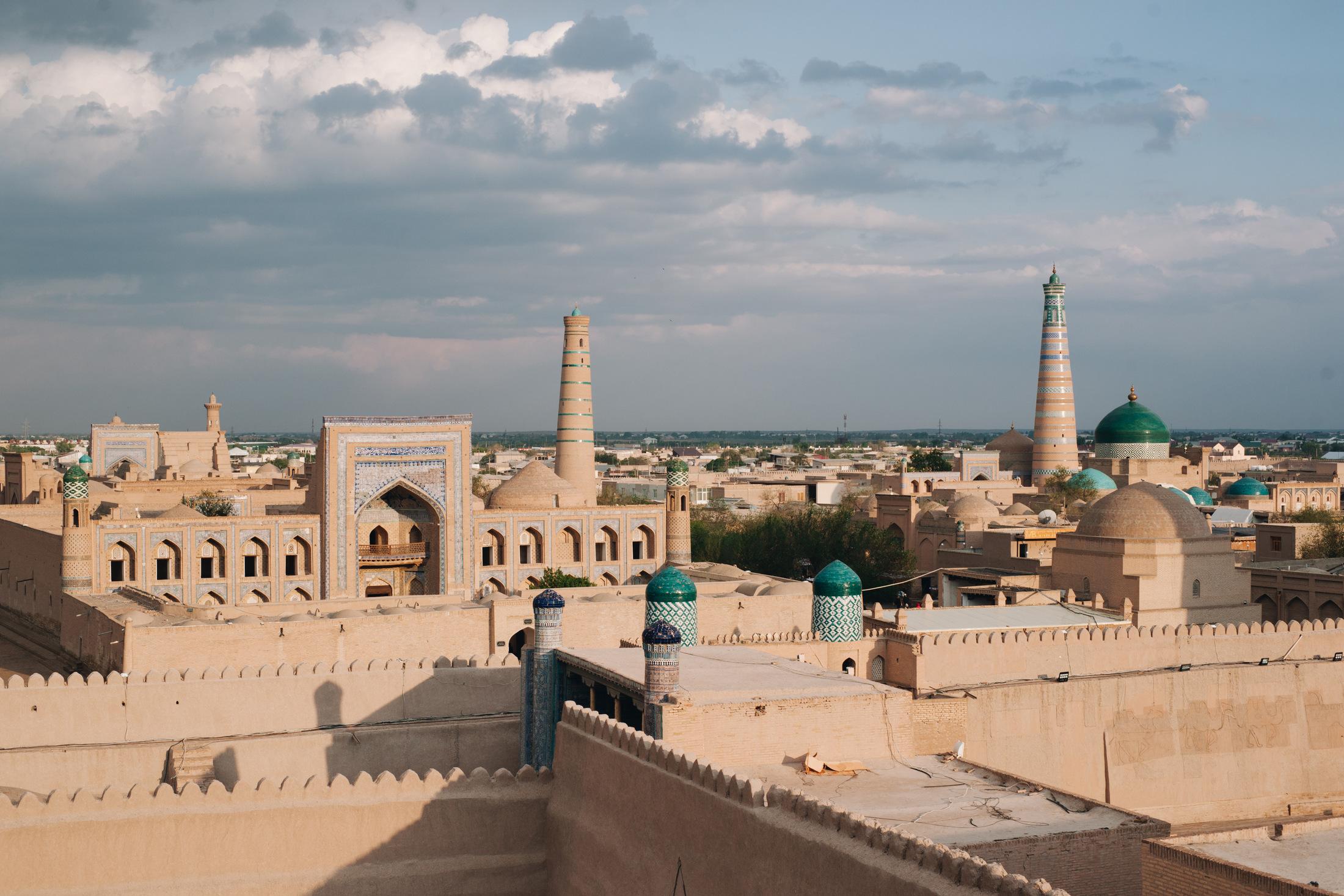 chiwa uzbekistan panorama